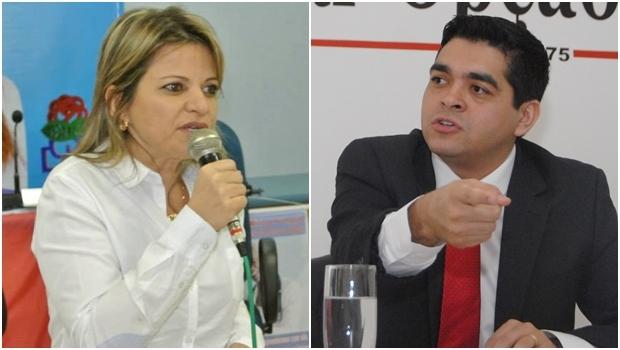 Deputada Flávia Morais e vereador Tayrone di Martino | Fotos: reprodução/ Jornal Opção