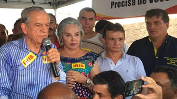 """Iris Rezende, durante evento em que anunciou a """"aposentadoria política""""   Foto: Alexandre Parrode/Jornal Opção"""