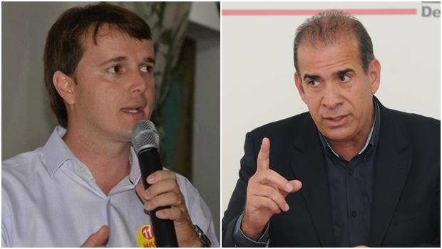 Atual prefeito, Miller Assis, e o pré-candidato Carlão | Fotos: reprodução/ Jornal Opção