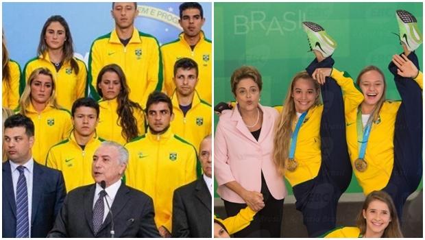 Internautas ironizam e comparam poses de Dilma e Temer com delegação olímpica