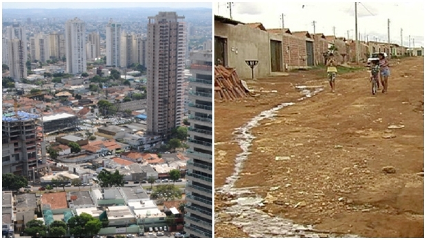 Mudança na paisagem do Setor Marista e a paisagem mudada longe da cidade, no Real Conquista: diferenças de indocilidade