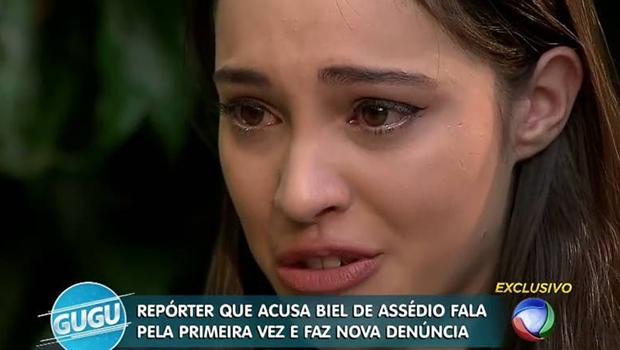 Repórter chora e fala de ameaça de estupro em entrevista com Biel