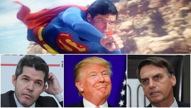 Sobre as figuras de Waldir Soares, Jair Bolsonaro e Donald Trump paira sempre o mesmo referencial: o Superman, que só existe na ficção
