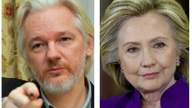 """Julian Assange, do WikiLeaks, desmascarou a santa Hillary Clinton"""