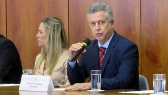 Celina Leão, presidente da Câmara Legislativa, e Rodrigo Rollemberg, governador do Distrito Federal
