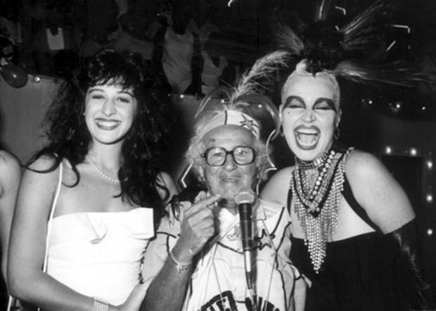 Cláudia Raia, Chacrinha e Elke Maravilha