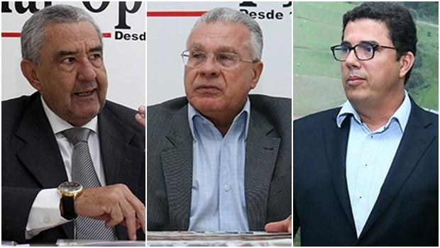 Justiça libera presidente da Saneago, José Taveira; presidente do PSDB em Goiás, Afrêni Gonçalves e diretor da Saneago, Robson Salazar   Fotos: Jornal Opção