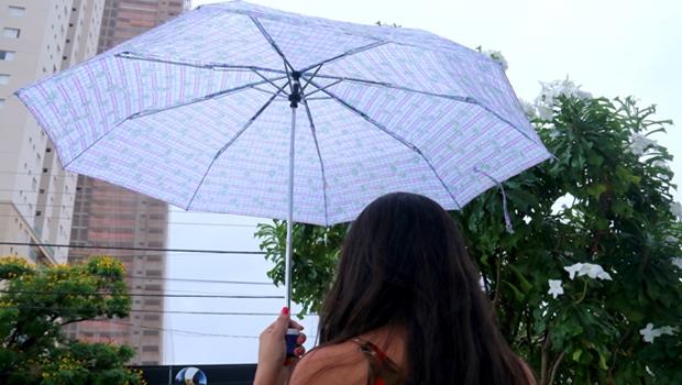 Final de semana será de pancadas de chuva e trovoadas em Goiânia