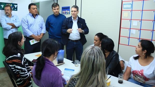 Francisco Jr em visita à Associação de Serviço à Criança Especial de Goiânia | Foto: Rafael Batista