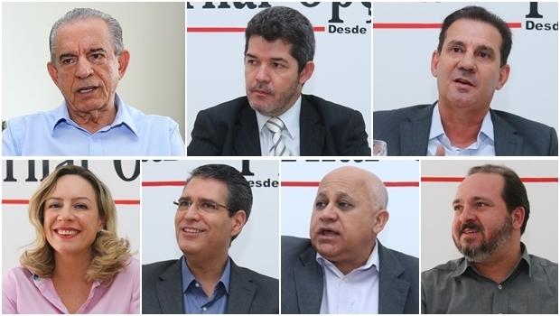 Candidatos à Prefeitura de Goiânia | Fotos: Jornal Opção