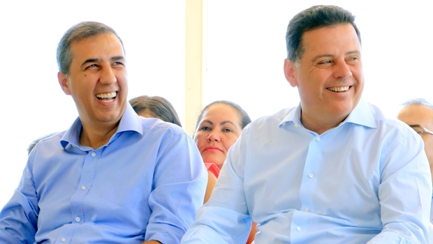 Governador Marconi Perillo e vice-governador José Eliton: base aliada ao governo do Estado conta com 461 candidaturas para a disputa das prefeituras nas eleições municipais deste ano
