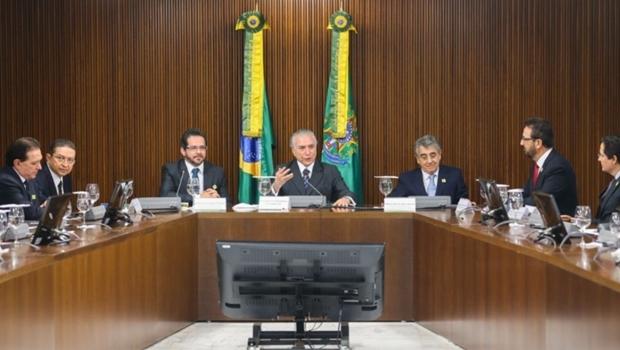Michel Temer (PMDB) recebeu os presidentes dos tribunais de conta para uma reunião nesta quarta-feira (18/8) | Foto: Antônio Cruz/Agência Brasil