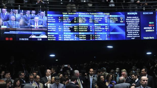 Veja como votaram os senadores no processo de impeachment