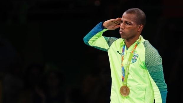Robson Conceição, pugilista, foi um dos atletas militares a levar ouro nas Olimpíadas | Foto: Fernando Frazão/ Agência Brasil