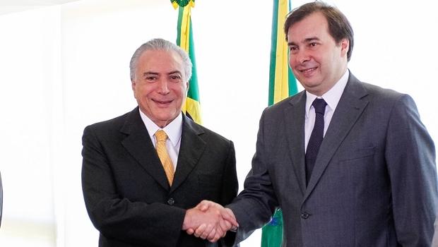 Temer e Rodrigo Maia: parceria não tão simples assim    Foto: Beto Barata/PR