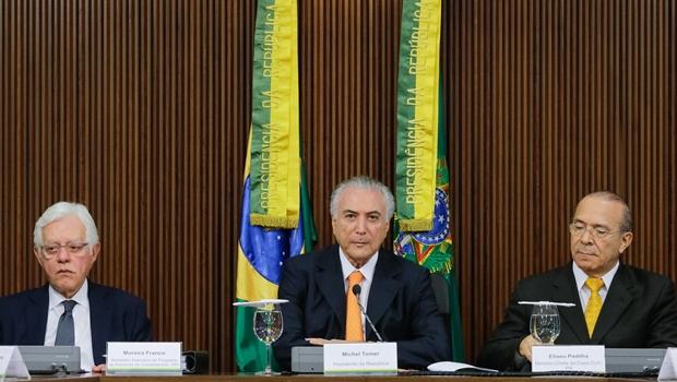 Presidente Michel Temer durante reunião do conselho do PPI.   Foto: Carolina Antunes/PR