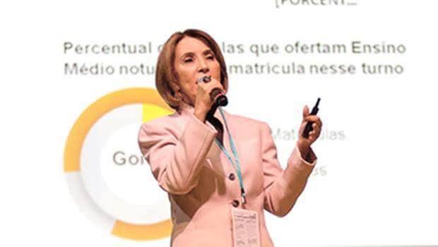 Raquel Teixeira durante seminário em São Paulo | Foto: Jornal Opção