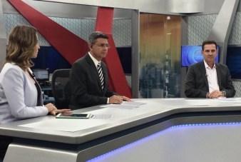 Vanderlan em entrevista à Record Goiás | Foto: Reprodução