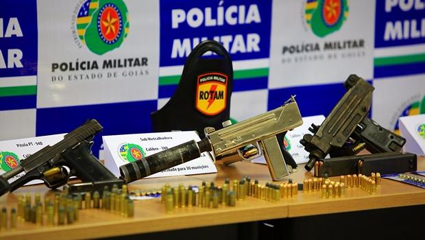 PM atinge recorde de mil apreensões de arma de fogo neste ano em Goiás
