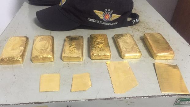 PM apreende quase 1 milhão de reais em barras de ouro em Goiás