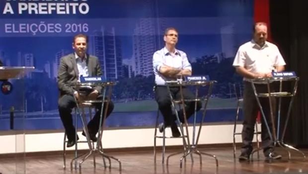 Vanderlan Cardoso, Francisco Jr. e Flávio Sofiati | Foto: reprodução/ vídeo