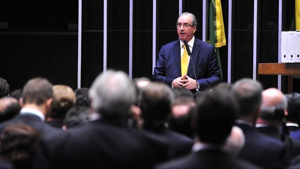 Eduardo Cunha discursa em sessão que decide seu futuro | Foto: Luis Macedo / Câmara dos Deputados