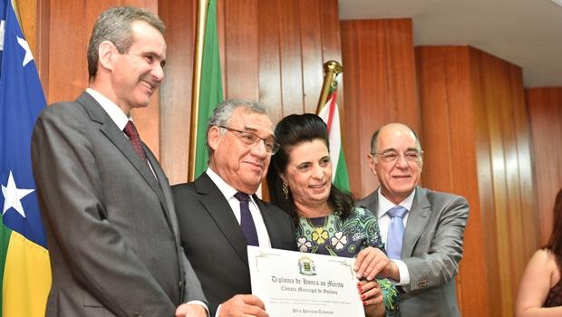 Hugol recebe homenagem da Câmara Municipal de Goiânia | Foto: Comunicação Hugol