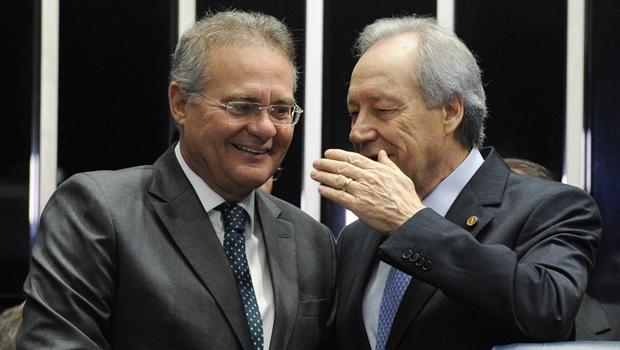 Presidentes Renan Calheiros e Ricardo Lewandoviski