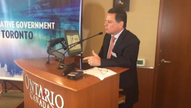No Canadá, Marconi fala a empresários sobre vantagens de Goiás   Foto: divulgação