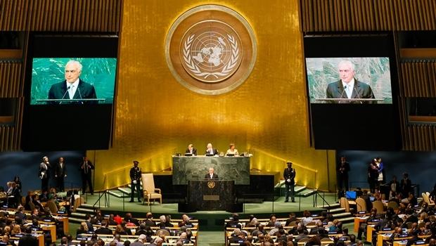 Presidente Michel Temer durante abertura do Debate Geral da 71ª Assembleia Geral das Nações Unidas - ONU   Foto: Beto Barata/PR