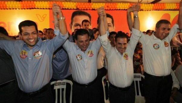 Thiago Peixoto, Marconi Perillo, Vanderlan Cardoso e José Eliton