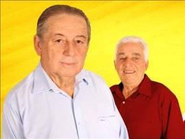 Prefeito reeleito, Zezinho e seu vice, Zé dos Anjos
