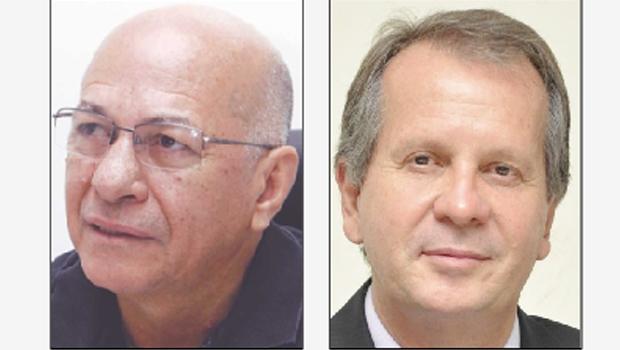 Alcides Ribeiro, da Unifan, e Luiz Carlos Attié, prefeito de Cristalina