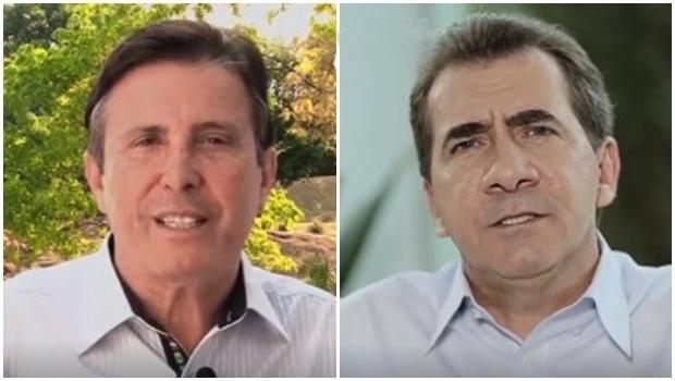 Ex-candidato Pedro Canedo, do DEM, e candidato à reeleição em Anápolis, João Gomes, do PT | Foto: Divulgação