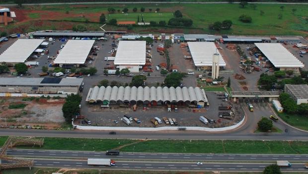 Vista aérea do Ceasa Goiás | Foto: Reprodução