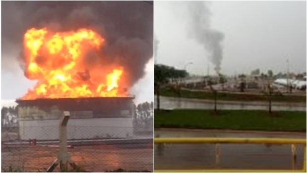 Incêndio em usina de Jataí é combatido apenas na madrugada desta sexta (21)