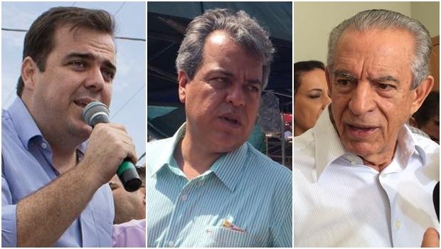 Gustavo Mendanha, Ernesto Roller e Iris Rezende: discursos destoantes | Fotos: reprodução