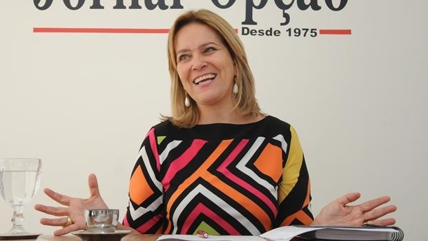 Lêda Borges em entrevista ao Jornal Opção | Foto: Fernando Leite