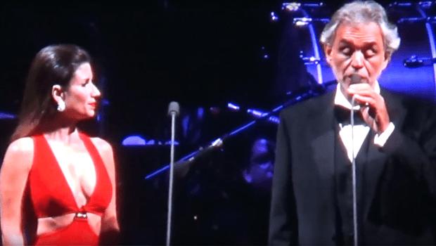 """Assessoria afirma que dueto entre Paula Fernandes e Andrea Bocelli correu """"exatamente como ensaiado"""""""