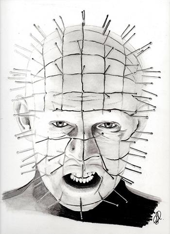O personagem literário Pinhead só ganhou fama em 1987, quando a obra foi adaptada para o cinema