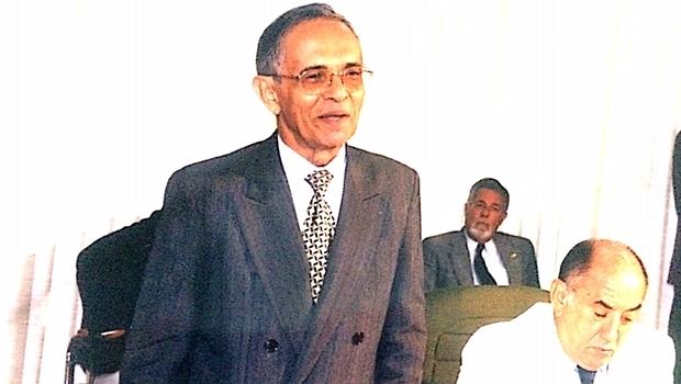 Ruy Barbosa com o governador da época, Siqueira Campos, durante posse na Unitins
