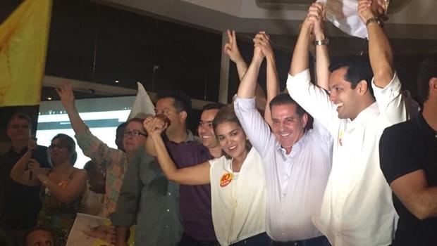Vanderlan Cardoso comemora resultado do primeiro turno | Foto: Marcelo Gouveia / Jornal Opção