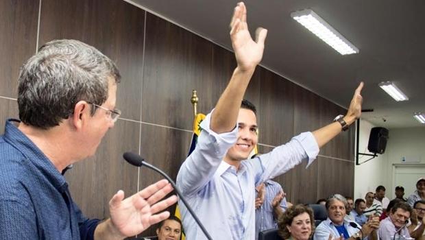Zé Antônio e o padrinho político, Zé Gomes | Foto: reprodução