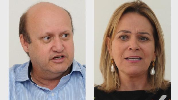 Célio Silveira e Lêda Borges: dois nomes que estão cacifados para  compor a chapa majoritária da base governista na eleição de 2018