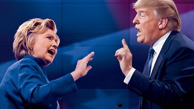"""""""Hillary x Trump"""": um vulgar, cujas ideias malucas podem ser barradas, e uma criminosa com ideias malucas que são e serão aceitas"""