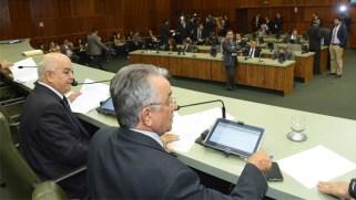 Sessão na  Assembleia Legislativa no dia 2 de dezembro de 2014, quando os deputados estaduais aprovaram a reforma administrativa