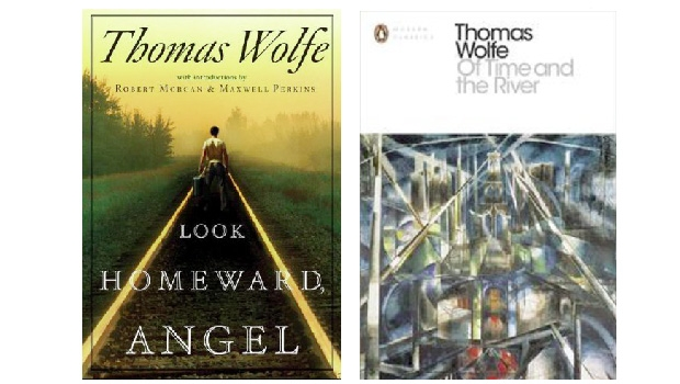"""""""Look Homeward, Angel"""" (""""Olhe Para Casa, Anjo"""") e """"Of Time and the River"""" (""""Do Tempo e do Rio""""): os dois romances caudalosos, retóricos, palavrosos e cults de Thomas Wolfe fizeram um imenso sucesso na década de 1930, nos Estados Unidos e na Europa"""