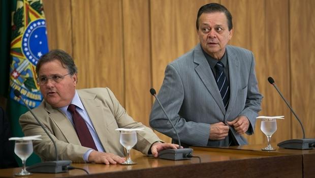 O ex-ministro Geddel Vieira Lima e o deputado goiano Jovair Arantes | Foto: Fabio Rodrigues Pozzebom/Agência Brasil