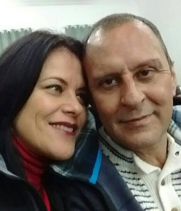 Neiva Monteiro Alves e Léo Alves; ela era mulher do jornalista   Foto: Facebook