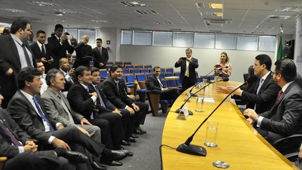 Deputado goiano esteve presente no evento desta terça-feira (29) | Foto: Reprodução